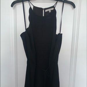 Black Scallop Shift Dress